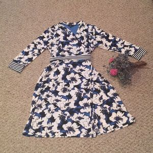 The Limited Blue & White Floral Dress